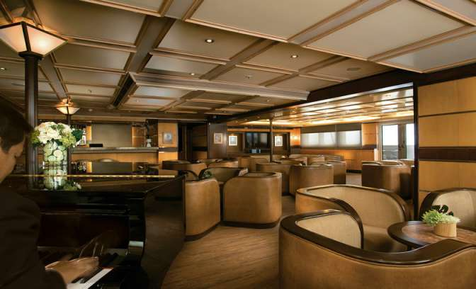 Lounge van Silverseas Cruises