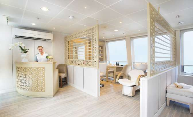 Wellness en spa centrum van Silverseas cruises