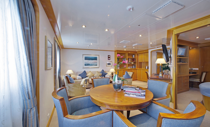 Een suite op de SeaDream I van SeaDream Yacht Club