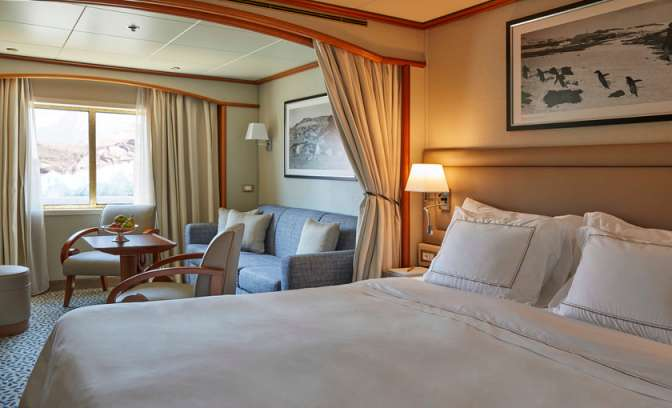 balkon suite aan boord van de silver cloud expedition