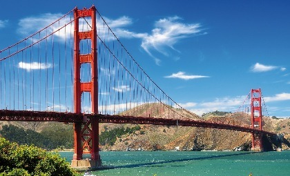 De Golden Gate Bridge in San Francisco