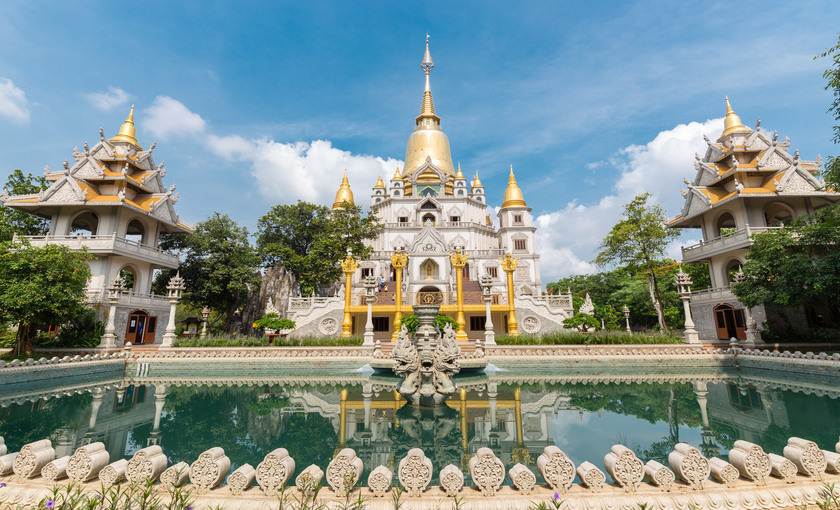 Buu long pagoda in Vietnam